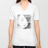 geisha V-neck T-shirts featuring Geisha by Nxolab