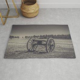 Artillery Placement Gettysburg National Military Park Pennsylvania Civil War Battlefield  Rug