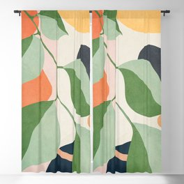 Colorful Branching Out 24 Blackout Curtain