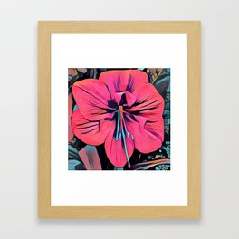Tropical Clivia Flower in Pop Art Framed Art Print