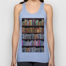 Vintage books ft Jane Austen & more Unisex Tank Top