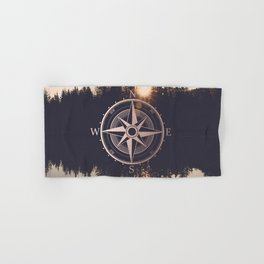 Rose Gold Compass Forest Hand & Bath Towel