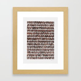 Watercolor Pattern Play - Triangle Meets Rectangle - Hematite + Bronze Framed Art Print