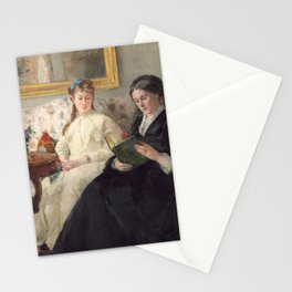 The Mother and Sister of the Artist - Marie-Joséphine & Edma by Berthe Morisot Stationery Cards