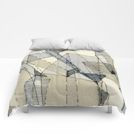 Blue Grey Transparency Comforters