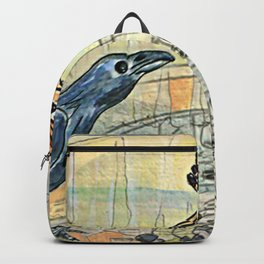 The Crow and the Hoopoe Backpack
