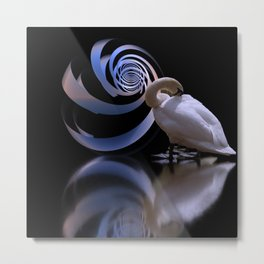the lost swan Metal Print