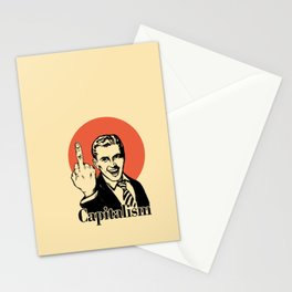 Fuck capitalism Stationery Cards