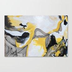 Veins  - Yellow Canvas Print