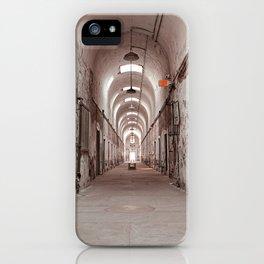 Crimson Prison Corridor iPhone Case