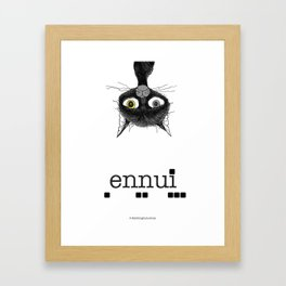 Ennui is one complicated emotion of a cat! Framed Art Print