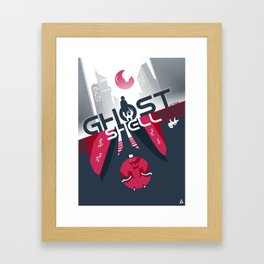 Ghost in the shell Minimalist poster Framed Art Print