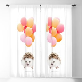 Hedgehog Balloons Blackout Curtain