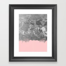 Crayon Marble with Pink Framed Art Print