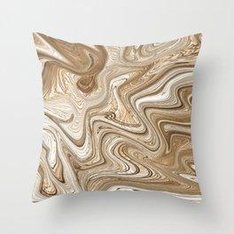 Digital abstract art Tones Throw Pillow