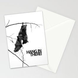 Hang in there! Little bat! Stationery Cards