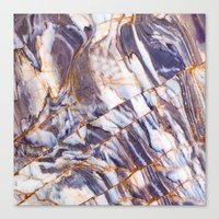 marble Canvas Prints featuring Marble by Patterns and Textures