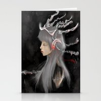 gray Stationery Cards featuring Gray by Norenne