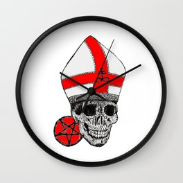 GHOST RED Wall Clock