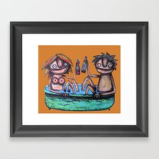 In the bath Framed Art Print