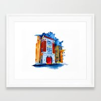 ghost busters Framed Art Prints featuring ghost busters garage by Jonny Moochie