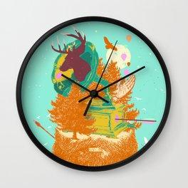 MUSICAL BEARD FOREST Wall Clock
