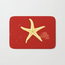 red seashell Bath Mat
