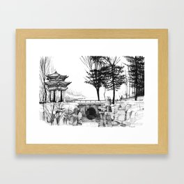 Chines nature Framed Art Print