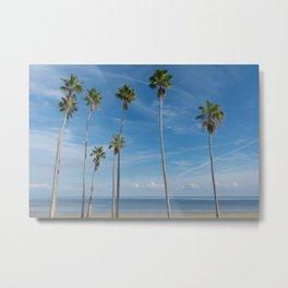trees on the beach Metal Print