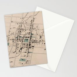 Vintage Map of Harrisonburg Virginia (1877) Stationery Cards