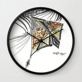 Kite Girl by Christiane Wall Clock