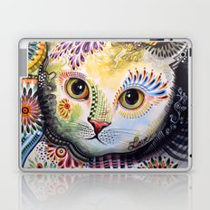 Lucy ... Abstract cat art Laptop & iPad Skin