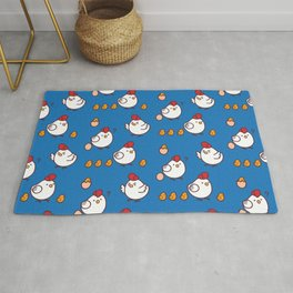 Silly Chickens Rug