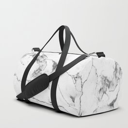 White Marble I Duffle Bag