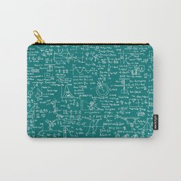 Physics Equations // Teal Carry-All Pouch