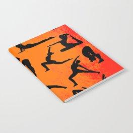 Yoga Pattern - Yoga Poses Notebook
