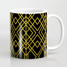 Chicago Cigar Bar Gold and Black Art Deco Coffee Mug