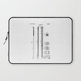 patent art Barret Billiard cue 1929 Laptop Sleeve