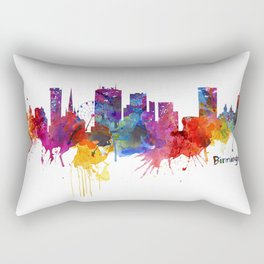 Birmingham Watercolor Skyline Rectangular Pillow