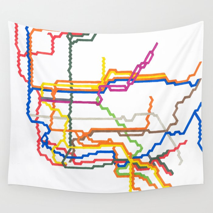 NYC Subway System (Complete) Wall Tapestry