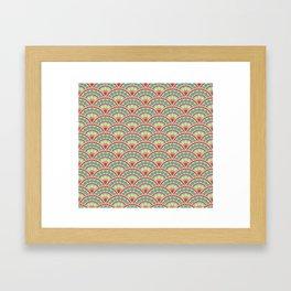 Peacock Tails Framed Art Print
