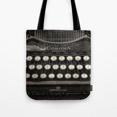 Old Typewriter Keyboard Tote Bag