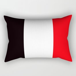 TEAM COLORS 7... red, black Rectangular Pillow