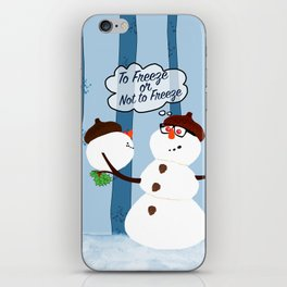 Funny Snowman Holiday Design iPhone Skin