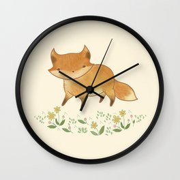 Organic Fox Wall Clock