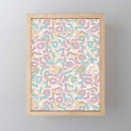 Funny Mess #society6 #abstractart Framed Mini Art Print