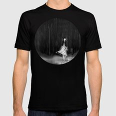 ... as the rain fell on me Mens Fitted Tee Black MEDIUM