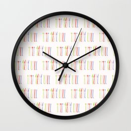 Spoon, Fork and Knife Vector Cutlery Wall Clock