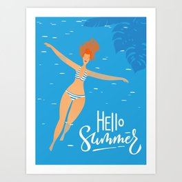 Hello Summer #4 Art Print
