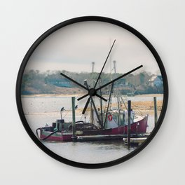 Cape Cod Fishing Boat Wall Clock